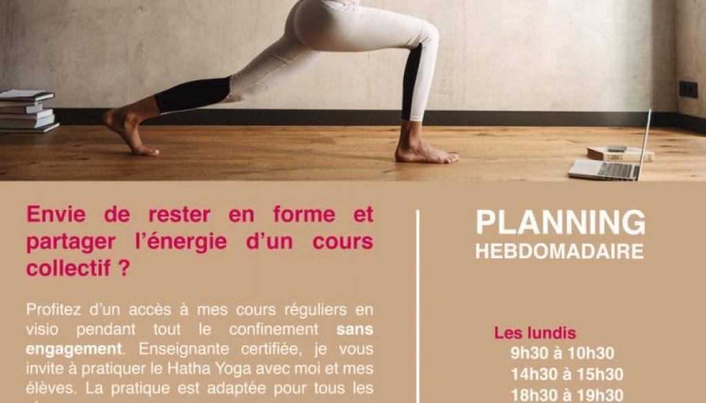 Yoga en visio avec Ivana