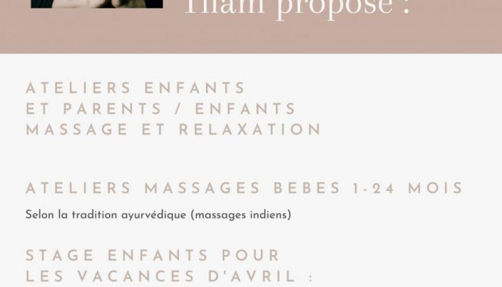REPORTÉ : 19-23 avril -> Ateliers massages ayurvédiques