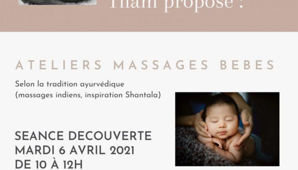 6 avril -> Ateliers massages bébés