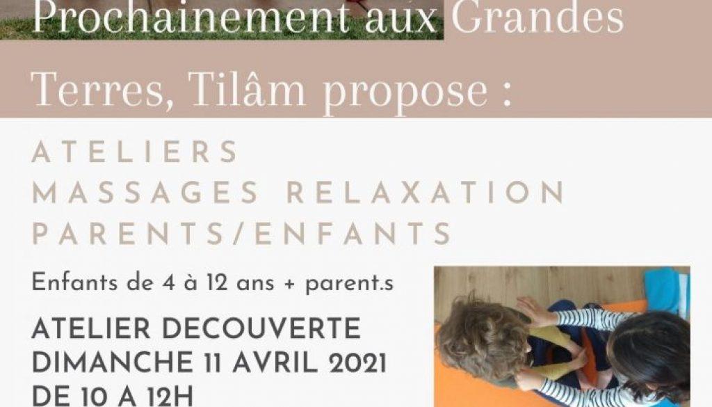 11 avril -> Massages Relaxation Parents/Enfants